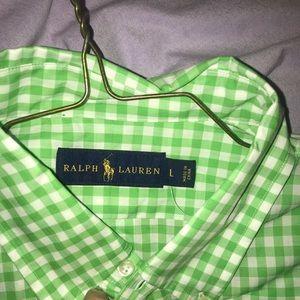 Green brand new Ralph Lauren Button down